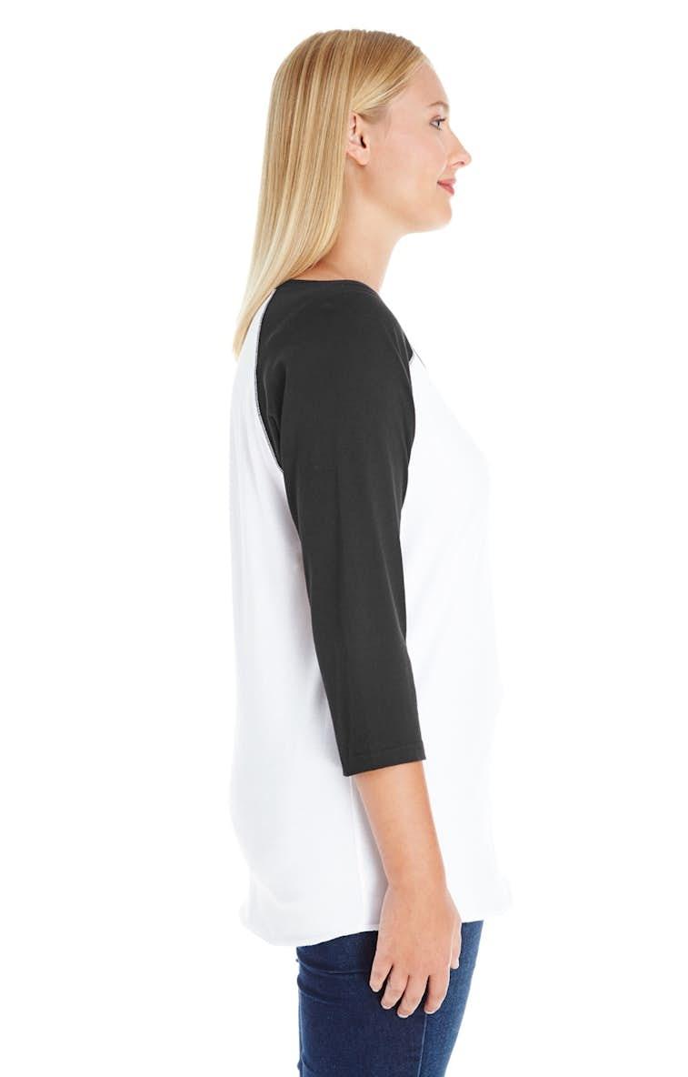 fb14e95c LAT 3830 Ladies' Curvy Baseball Premium Jersey T-Shirt - JiffyShirts.com
