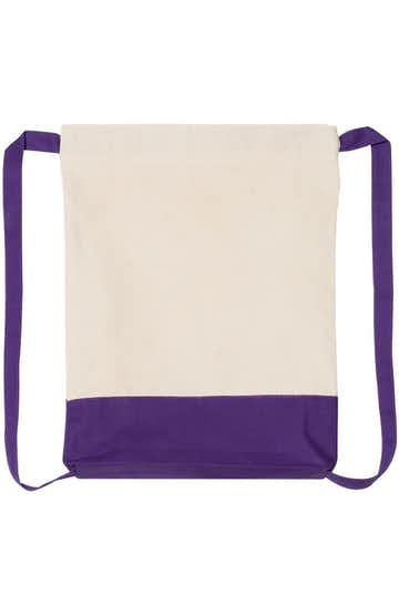 Q-Tees Q125700 Natural/ Purple