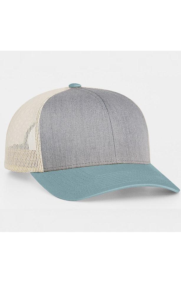 Pacific Headwear 0104PH Heather Grey/Smoke Blue/Beige