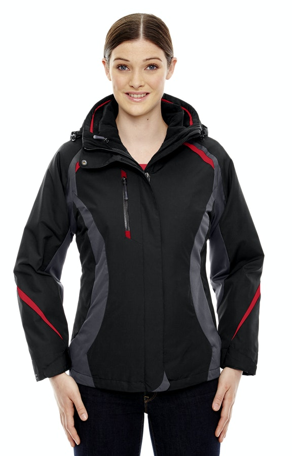 Ash City - North End 78195 Black/Classic Red