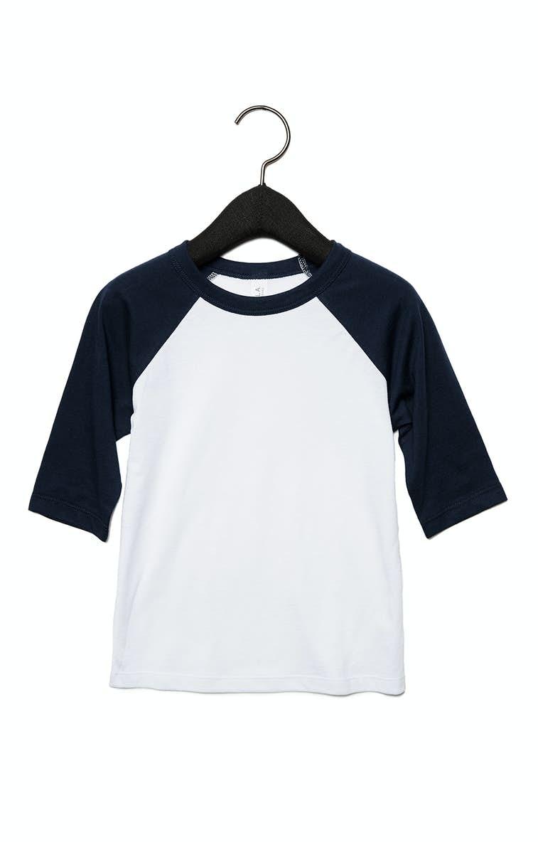 60f4f57a55a Bella+Canvas 3200T Toddler 3 4-Sleeve Baseball T-Shirt - JiffyShirts.com