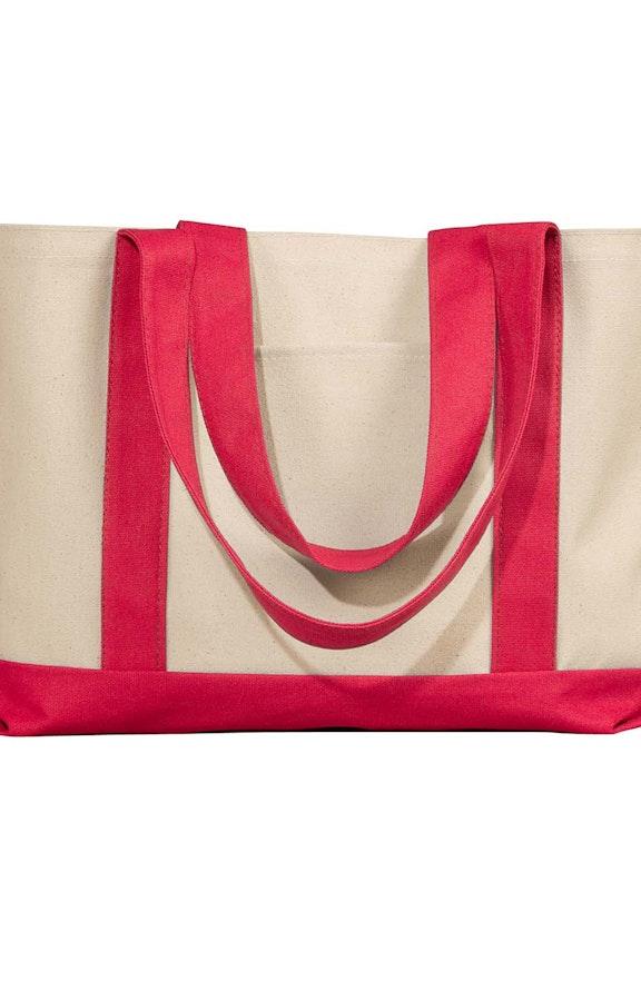 Liberty Bags 8869 Natural/Red