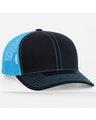Pacific Headwear 0104PH Black/Neon Blue