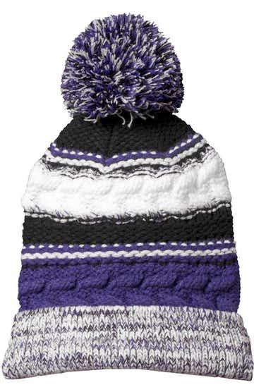 Sport-Tek STC21 Purple / Black / White