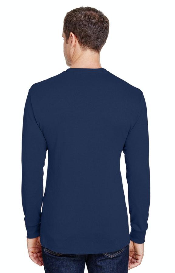 55572452 Hanes W120 Adult Workwear Long-Sleeve Pocket T-Shirt - JiffyShirts ...
