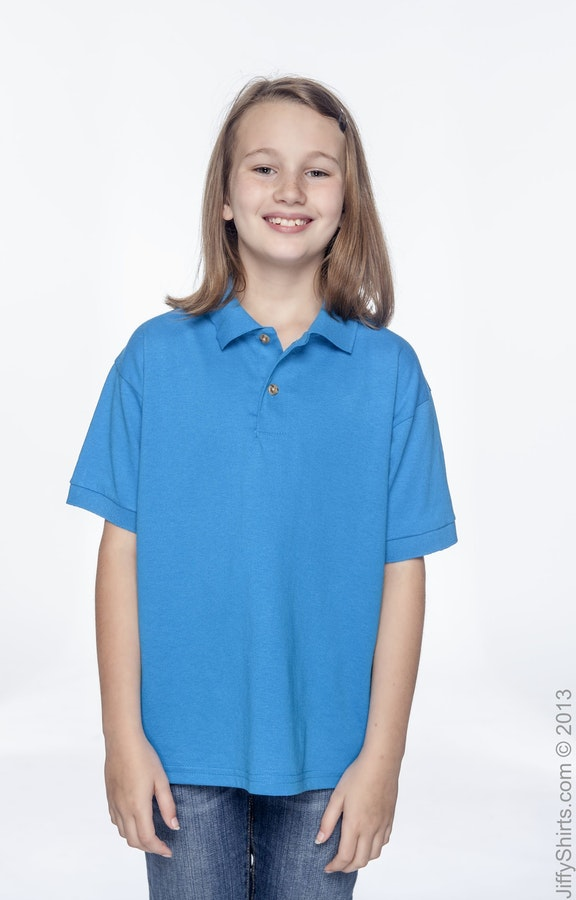 339499dd Gildan G880B Youth 6 oz., 50/50 Jersey Polo - JiffyShirts.com