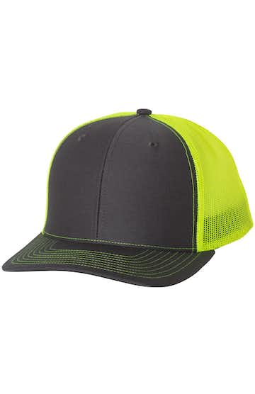 Richardson 112 Charcoal / Neon Yellow