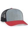 Pacific Headwear 0104PH Heathergrey/Ltcharcoal/Varsity