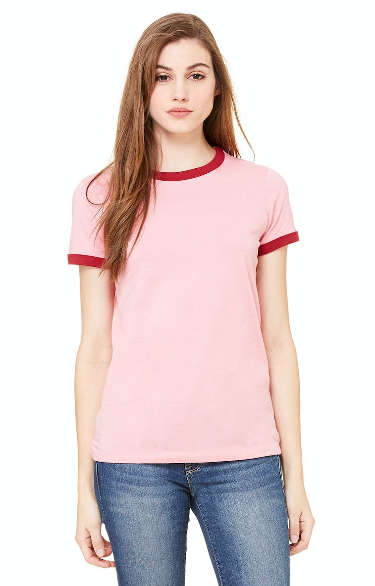 800db6c6adb074 Bella+Canvas B6050 Ladies  Jersey Short-Sleeve Ringer T-Shirt ...