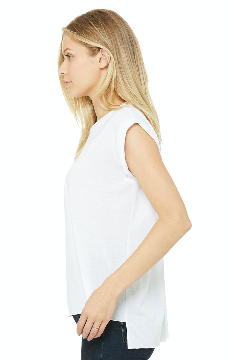 6659eff7af Bella+Canvas 8804 Ladies' Flowy Muscle T-Shirt with Rolled Cuff ...
