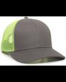 Outdoor Cap OC770 Charcoal / Neon Yellow