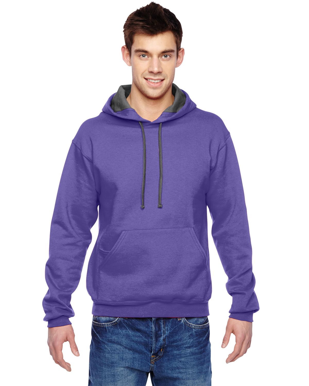 Fruit of the Loom Mens SofSpun Hooded Pullover Sweatshirt Hoodie SF76R Up to 3XL
