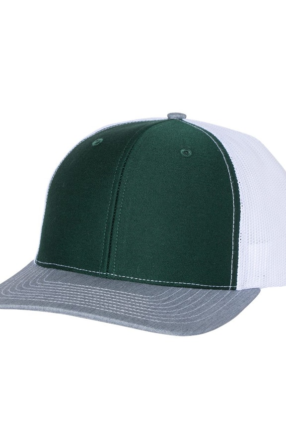Richardson 112 Dark Green / White / Heather Grey