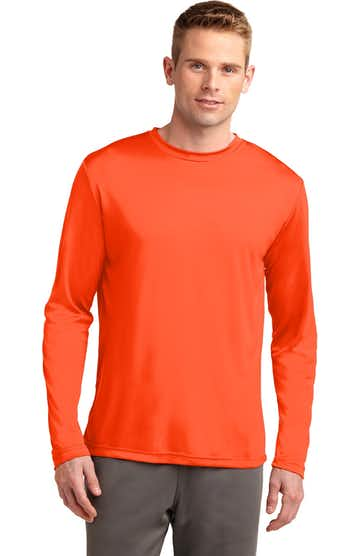 Sport-Tek TST350LS Neon Orange