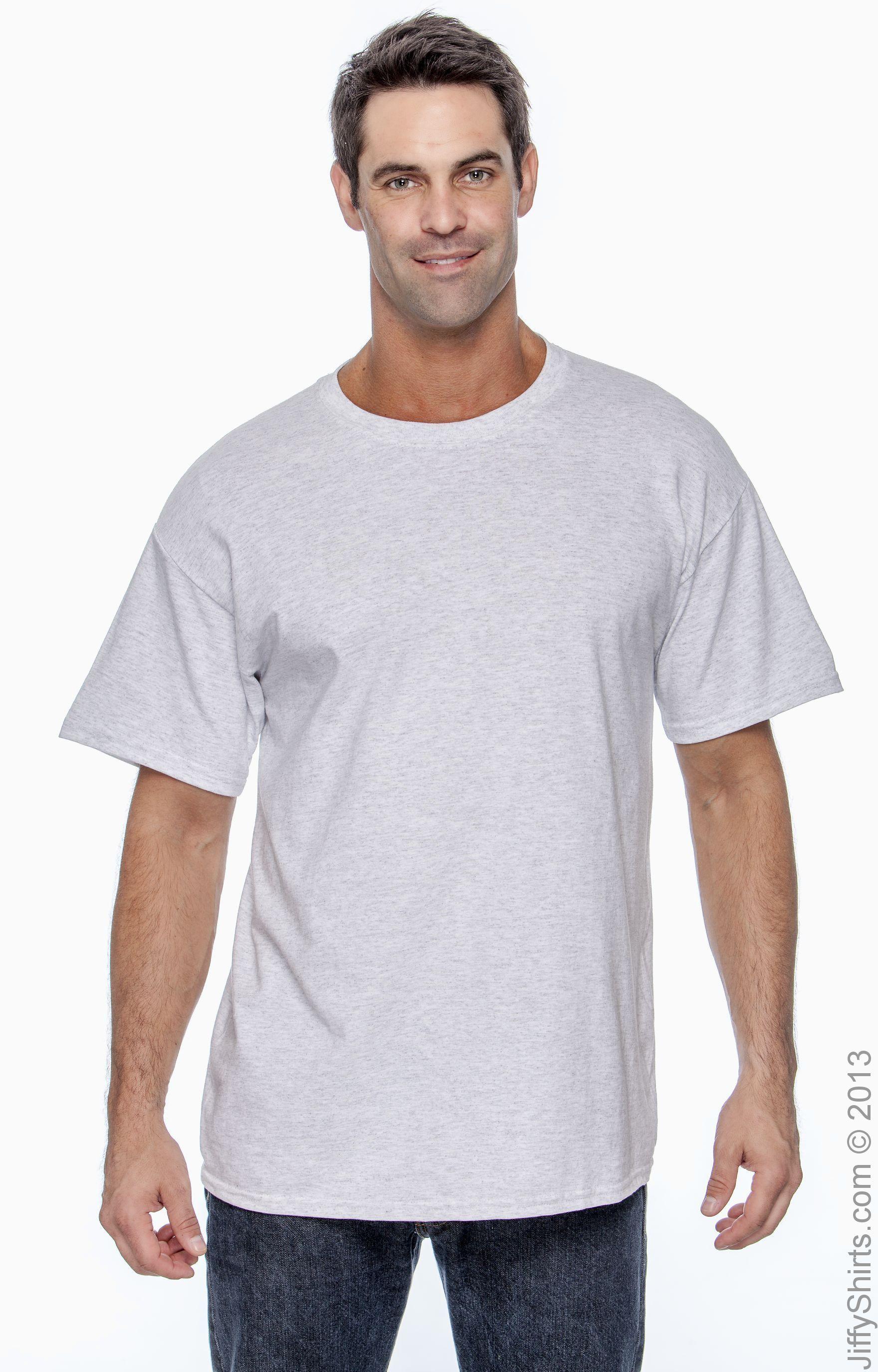 Style # 5250T - Original Label ASH Hanes Mens 61 oz Tagless T-Shirt 3XL -