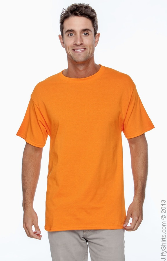 Hanes 5250T High Viz Safety Orange