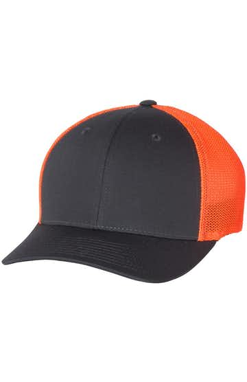 Richardson 110 Charcoal/ Neon Orange