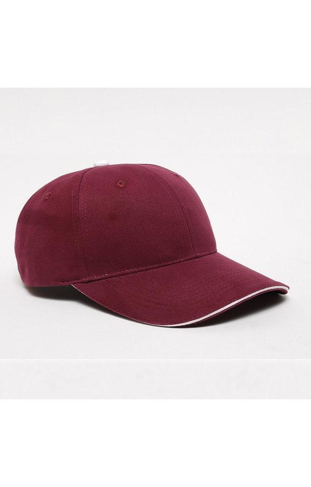 Pacific Headwear 0121PH Maroon/White