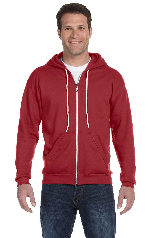 ANVIL Adult Classic Full Zip Hooded Sweatshirt Fashion Casual Sports Hoodie TOP