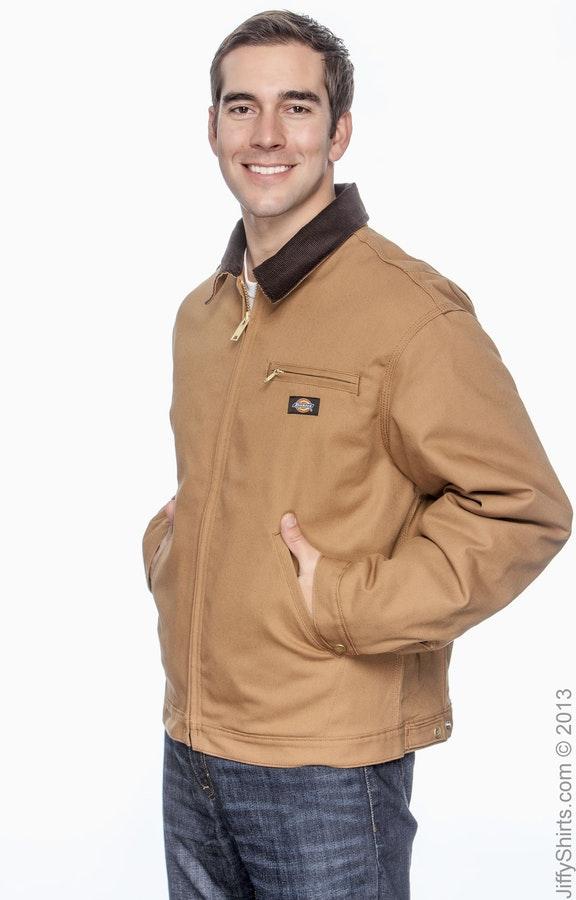 53938047c Dickies 758 Brown Duck Unisex Duck Blanket Lined Jacket