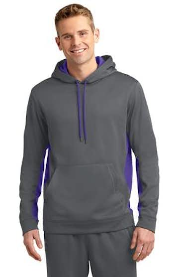 Sport-Tek ST235 Dark Smoke Gray / Purple