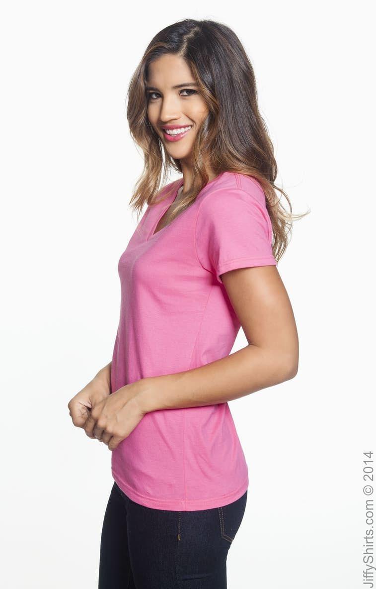 c6a13751d96 Anvil 88VL Ladies  Lightweight V-Neck T-Shirt - JiffyShirts.com