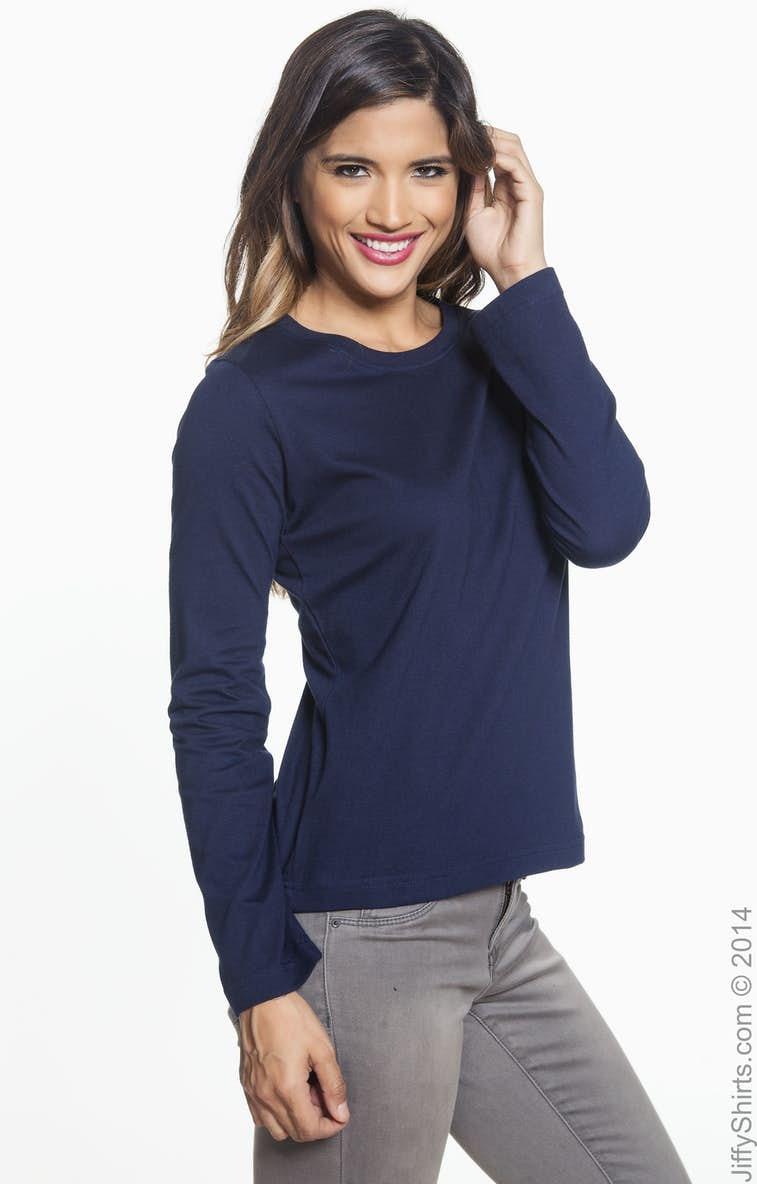 29ed573fe LAT 3588 Ladies  Long-Sleeve Premium Jersey T-Shirt - JiffyShirts.com