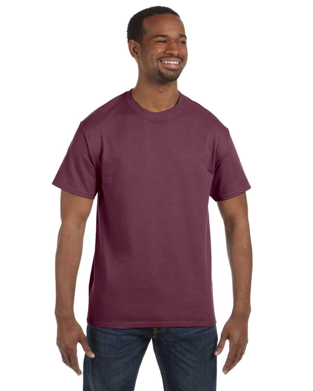 50//50 Heavyweight Blend T-Shirt 29M Vintage Heather Maroon Jerzees 5.6 oz L
