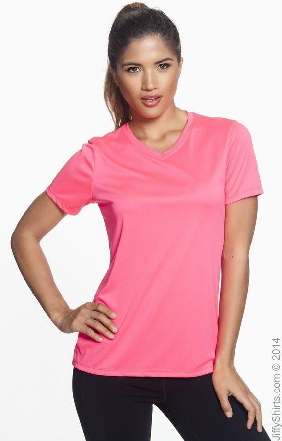Hanes 483V Neon Pink