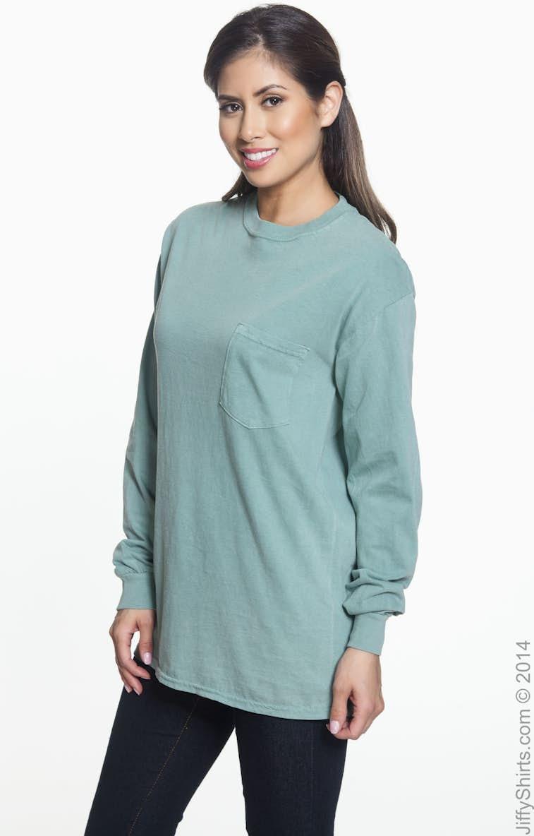 4e607b2c Comfort Colors C4410 Adult Heavyweight RS Long-Sleeve Pocket T-Shirt -  JiffyShirts.com