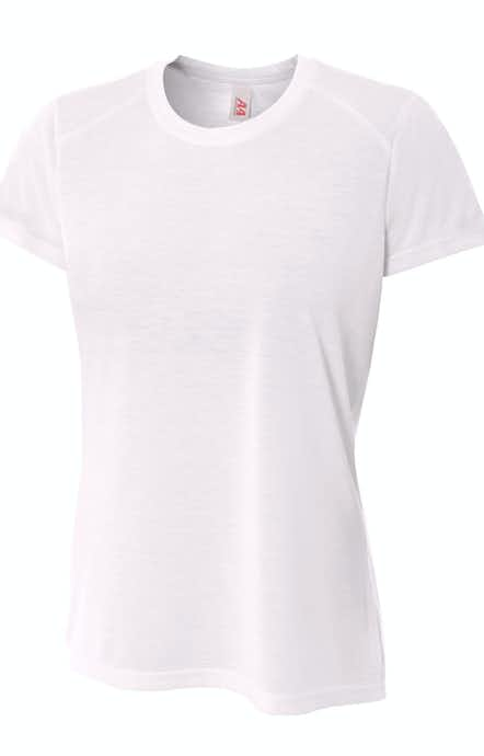 6f32a016 Men's Shorts Sleeve Spun Poly T-Shirt. A4 NW3264 White