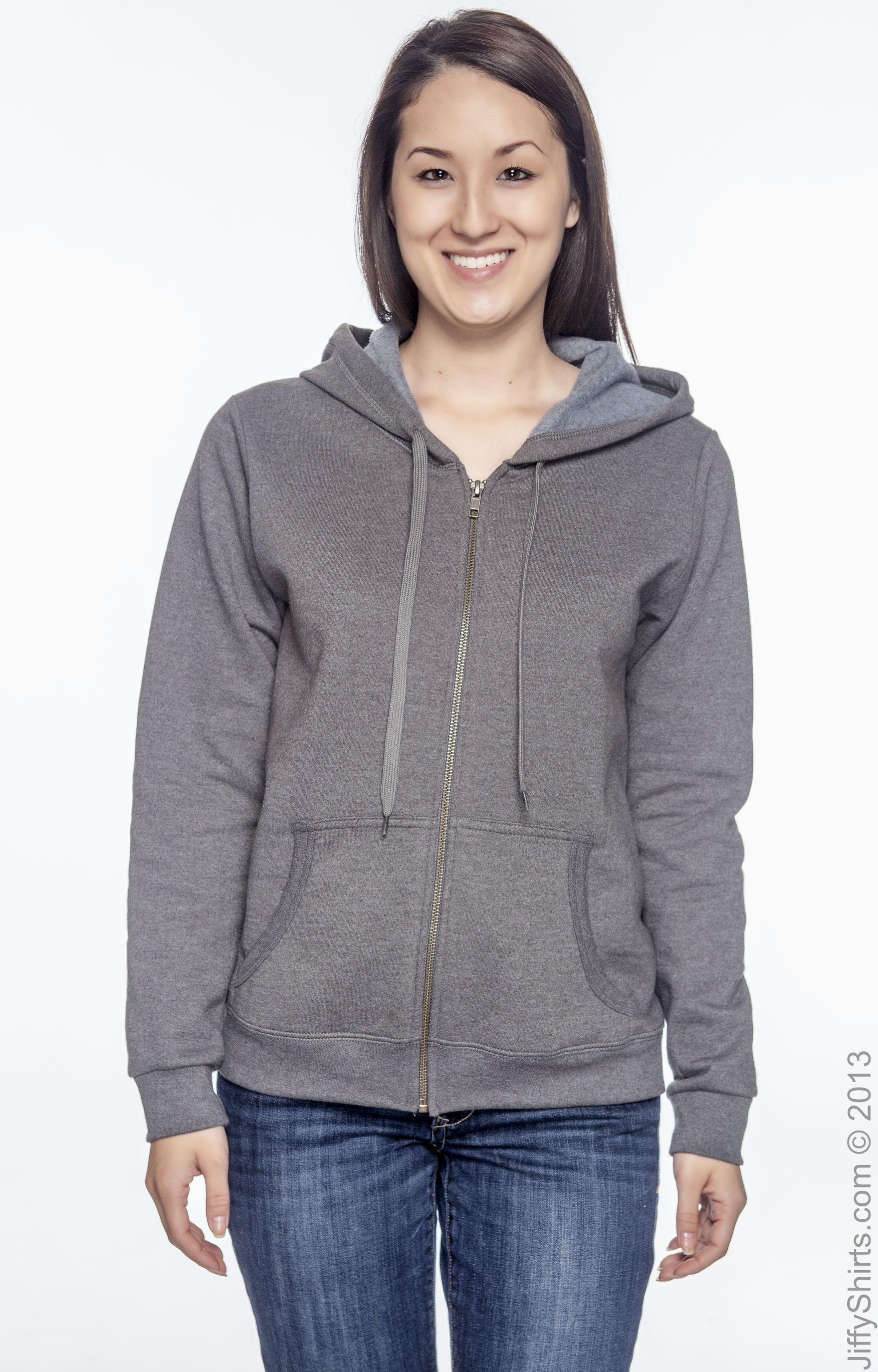 Gildan G187FL Tweed Heavy Blend™ Ladies' 8 oz. Vintage Classic Full Zip Hood