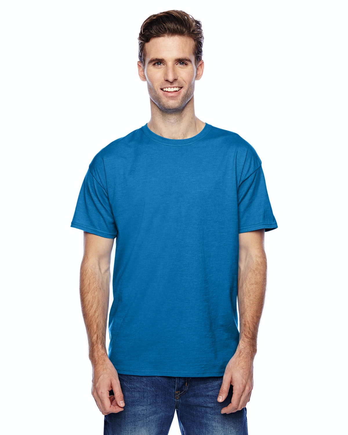 Hanes P4200 Neon Blue Heather