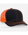 Pacific Headwear 0104PH Black/Neon Orange