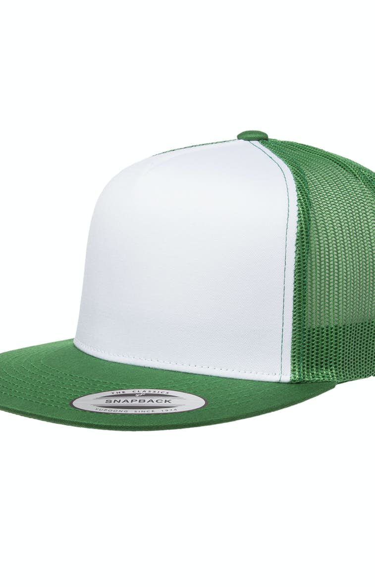 2f3782e954d96 Yupoong 6006W Adult Classic Trucker with White Front Panel Cap -  JiffyShirts.com