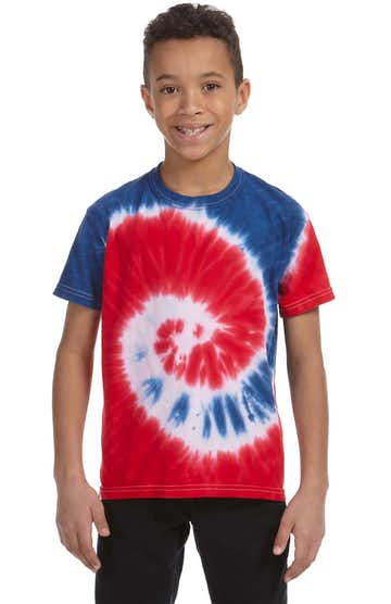 Tie-Dye CD100Y Spiral Royal & Red