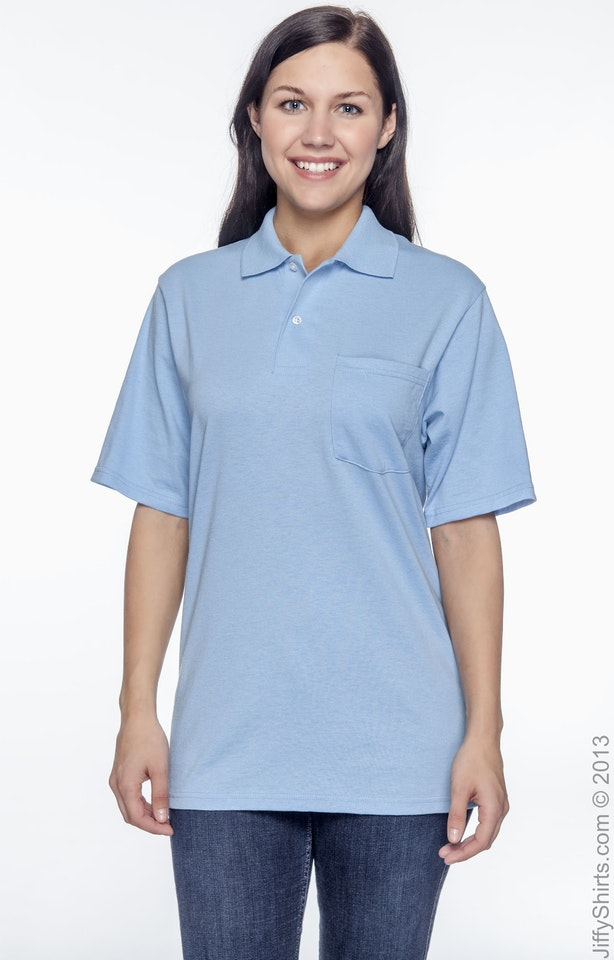 Jerzees 436P Light Blue