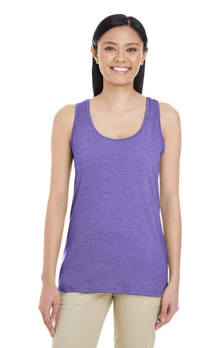 Gildan G645RL Heather Purple