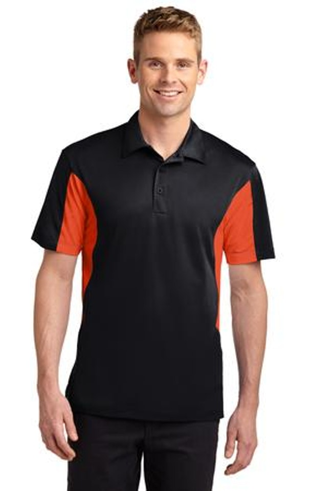 Sport-Tek TST655 Black / Deep Orange