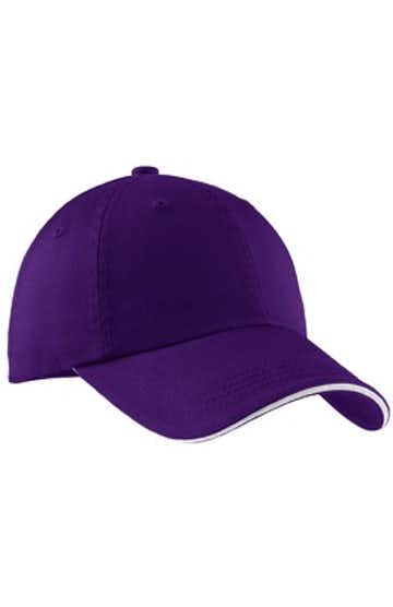 Port Authority C830 Purple / White