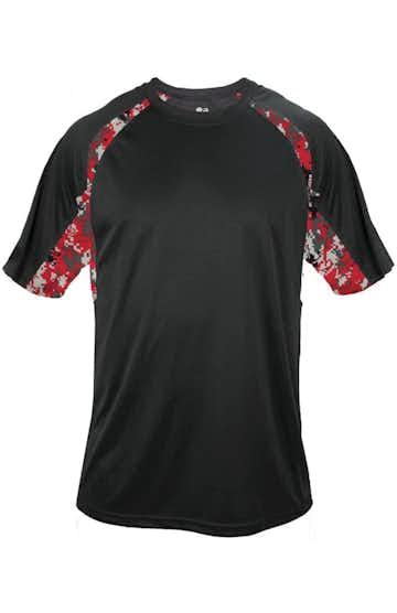 Badger 4140 Black / Red Digital