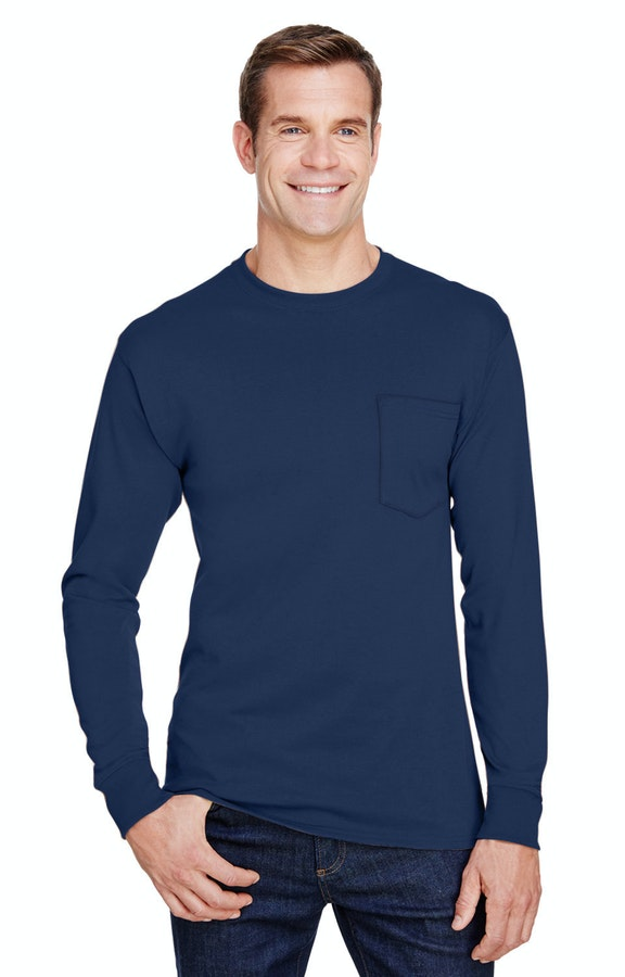 fad402dd Hanes W120 Adult Workwear Long-Sleeve Pocket T-Shirt - JiffyShirts.com