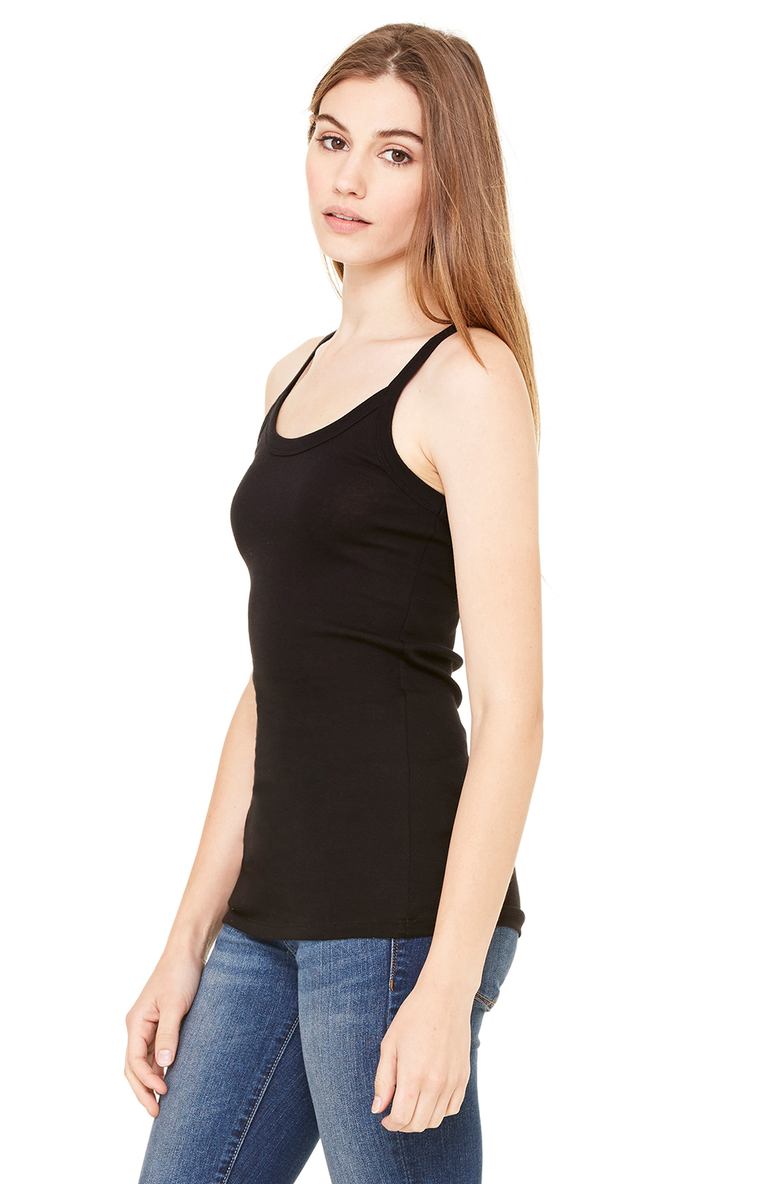 6c7a104cc3194b Bella+Canvas 8711 Ladies  Sheer Mini Rib Thin Strap Tank - JiffyShirts.com