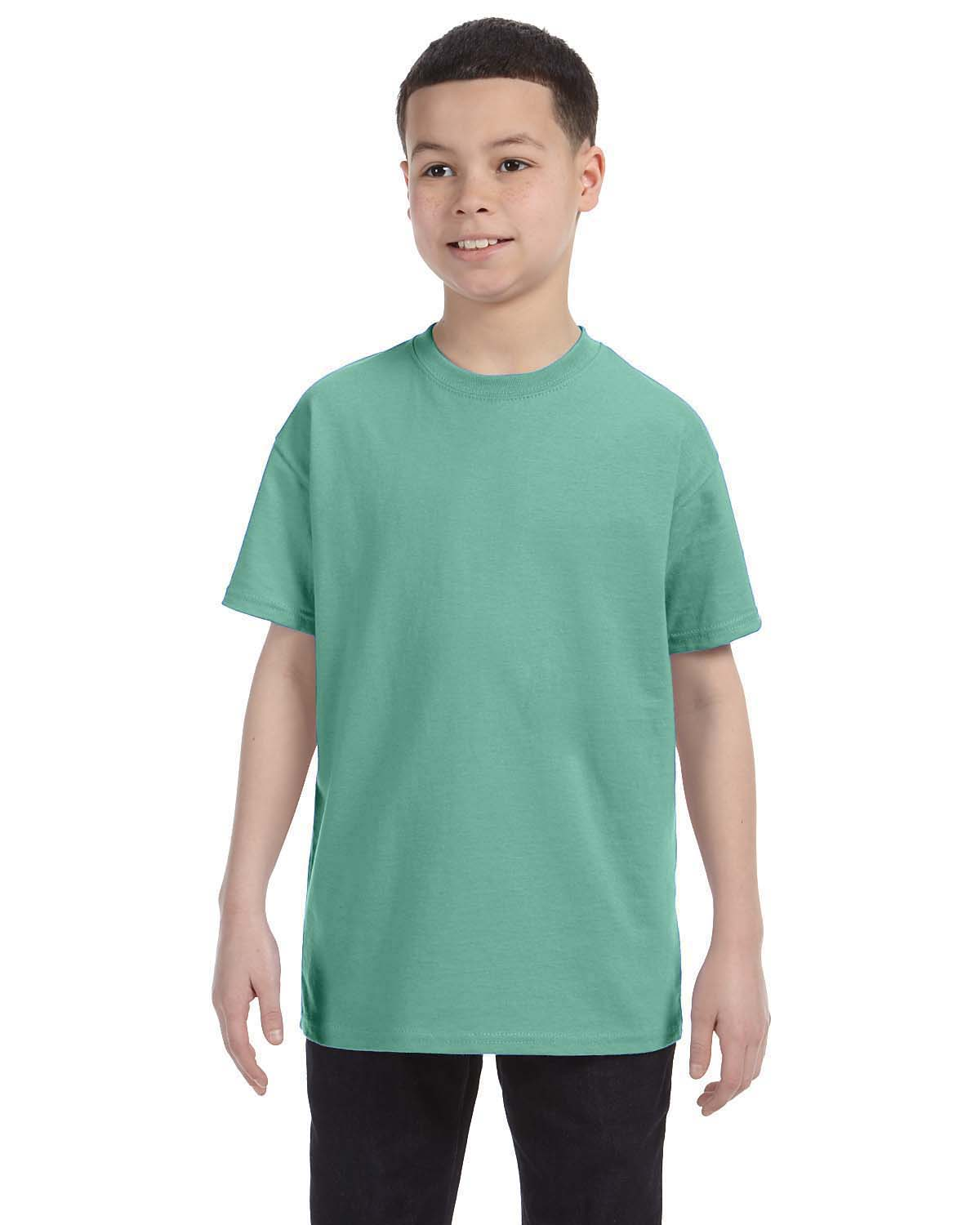 NEW Hanes Youth 100/% Cotton Heavy Tagless T-Shirt M-54500