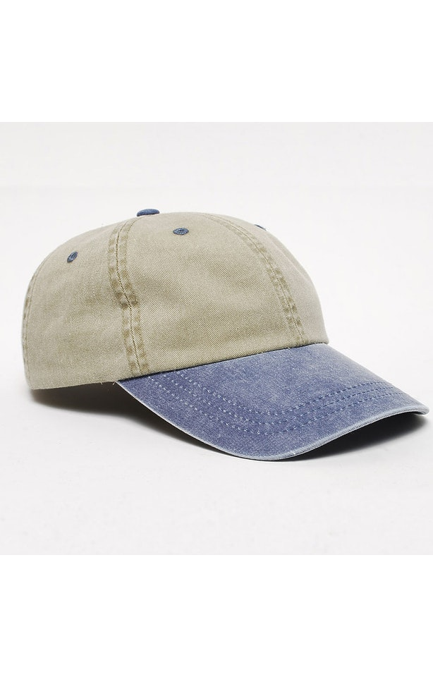Pacific Headwear 0300PH Sand/Navy