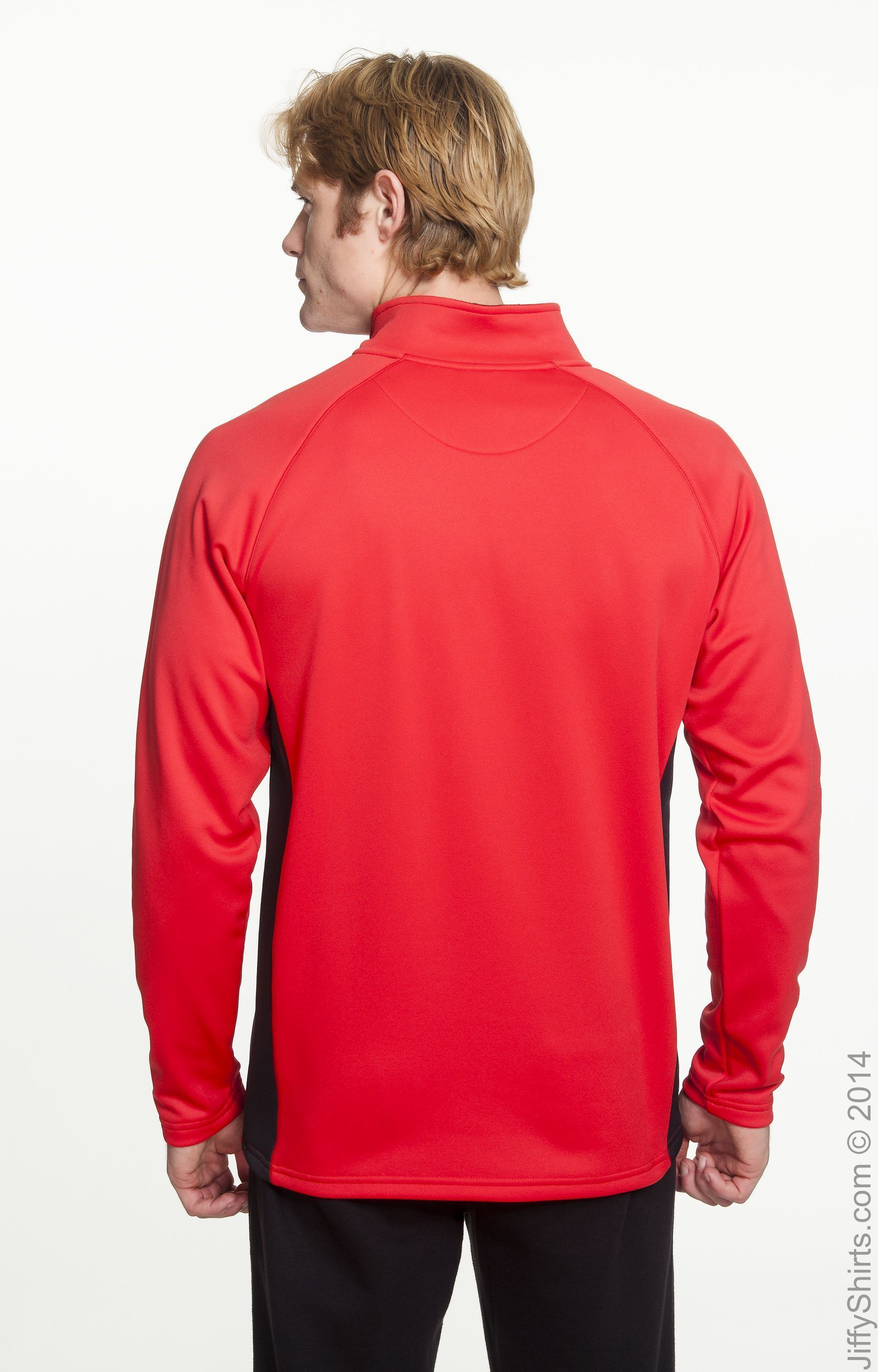 Men's red Adidas Ajax soccer micro fleece sweatshirt size