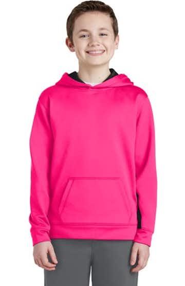 Sport-Tek YST235 Neon Pink / Black