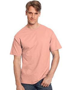 Hanes Mens 61 oz Tagless T-Shirt L - Style # 5250T - Original Label SAFETY ORANGE