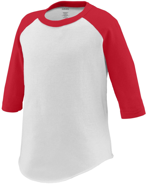 Augusta Sportswear 422 White/ Red