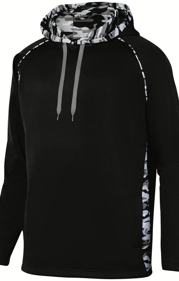 71d7bdef4 Augusta Sportswear 5538 Black/ Blk Mod Adult Mod Camo Hooded Pullover  Sweatshirt
